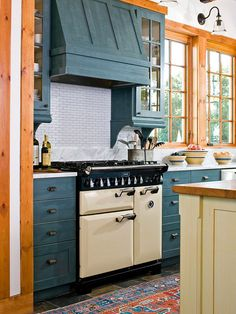 Play Up Hardware              Different pieces of refurbished antique hardware dress up these cabinet doors and drawers with unique style. The aged pieces compliment the country style of the glazed cabinets