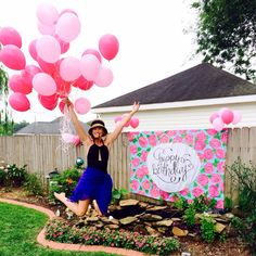 Lilly Pulitzer First Impression Pattern Happy Birthday Banner- would be so cute to make something like this!