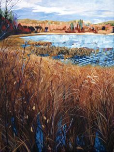Johnny's lake    57.11299, -103.1619    oil on canvas    36in (91.44 cm) x 48 in (121.92 cm)