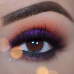 Purple and red smokey eye makeup #bright #bold #eye #makeup #eyes