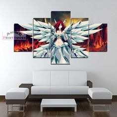 Fairy Tail Canvas Painting Erza Scarlet Heaven's Wheel Armor    #fairy #tail #canvas #painting #art #home #decor #merrchandise #natsu #lucy #nalu #erza #scarlet    https://www.animeprinthouse.com/collections/all/products/fairy-tail-canvas-painting-erza-scarlet-heavens-wheel-armor