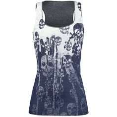 Outer Vision  Top  »Skulls Bleach« | Buy now at EMP | More Rock wear  Tops  available online ✓ Unbeatable prices!