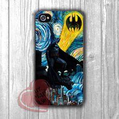 Batman Starry Night Painting - zzd for iPhone 4/4S/5/5S/5C/6/6+s,Samsung S3/S4/S5/S6 Regular/S6 Edge,Samsung Note 3/4