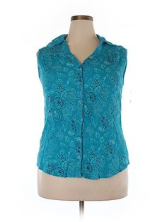 Check it out—Faded Glory Sleeveless Button-Down Shirt for $6.99 at thredUP!