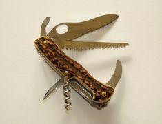 Hirschhorn Inox, Victorinox Messer mit Hirschhorngriff, genietet Swiss Army Knife, Hunting, Craft Items, Knives, Swiss Army Pocket Knife