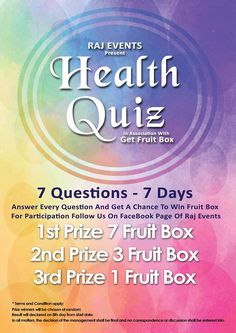 Present Health Quiz In Association With Health Quiz, Fruit Box, Healthy Fruits, Healthy Lifestyle, Healthy Living, This Or That Questions, Eat, Healthy Life