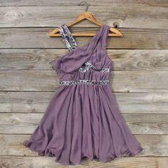 Lavender Fields Party Dress, Sweet Women's Bohemian