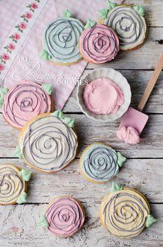 Easy Ranunculus Cookies from Bakingdom