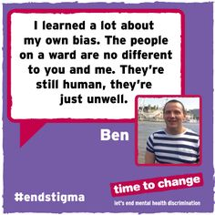 Read Ben's blog about being on a psychiatric ward and how it challenged his perceptions about people with mental illnesses. #EndStigma