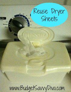 Reuse Dryer Sheets – Multiple Uses in Dryer