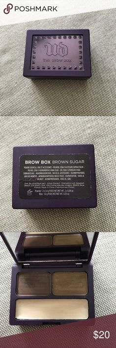 Urban Decay Brow Box Brown Sugar Brown sugar Urban Decay Brow box. Used 2 times (the shadows / the primer has been used a bit more). Recently sanitized. Comes with all brushes, tweezers never used. Powdered brow makeup just didn't work on my skin type. Please make an offer ❤️✨!! Save on Bundles ✨✅ 100% authentic. Urban Decay Makeup Eyebrow Filler