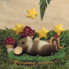 Wish Upon A Star- Collectible Figurine. #CharmingTails #Statue #Sculpture #Figurine #Decor #Gift #gosstudio .★ We recommend Gift Shop: http://www.zazzle.com/vintagestylestudio ★