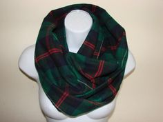 green navy red plaid infinity scarf flannel by OtiliaBoutique Plaid Flannel, Red Plaid, Plaid Infinity Scarf, Autumn Winter Fashion, Navy, Stylish, Green, Shopping, Hale Navy