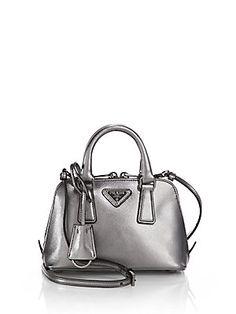 ... shopstyle prada handbag green - Prada Saffiano Lux Double Handle Mini  Satchel http   www ... 7238809555789