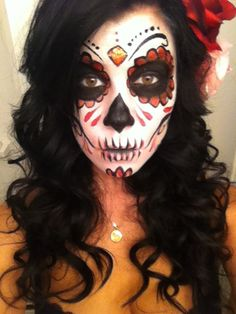 day of the dead makeup | Day of the dead face makeup | ~Tatoo/Art~