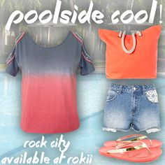 #ROCKCITY is the perfect holiday top! Throw on over your #bikini for the beach or with a skirt for a night time look!  Versatility and on trend colours make this top stand out from the crowd! Available now at RoKii Shop