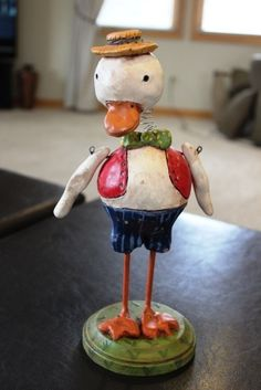 Paper Mache Original Piece Signed by Penny McAllister Ducky Boy 1 | eBay