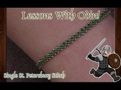 How To Single St. Petersburg Stitch Jewelry Making DIY Tutorial - Lesson...