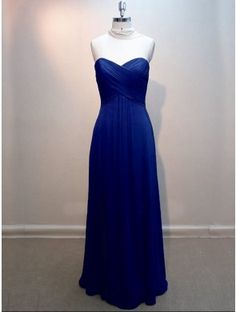 Royal Blue bridesmaid dress. Put either a black or white cardigan over the shoulders and it would be perfect for a summer or spring wedding!