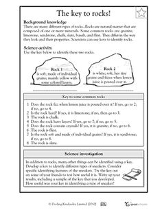 Rocks And Minerals Worksheets Middle School: 3rd grade rock and mineral quiz grade 4 rocks minerals and ,