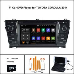 Quad Core Android   Car Dvd Gps For Toyota Corolla  Car Stereo Car Gps Capacitive