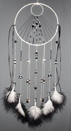 Attrape-rêves noir et blanc black and white dreamcatcher
