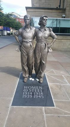 Women of Steel, Sheffield UK.# made in sheffield is super city of sheffield Sheffield Steel, Sheffield City, Sheffield England, South Yorkshire, Yorkshire England, Statues, Bronze, Derbyshire, British Isles