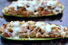 Italian Chicken Zucchini Boats are a wonderful healthy low carb, high protein meal. Loaded with zesty flavors and topped with just the right amount of low fat mozzarella cheese