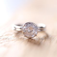 Engagement Ring in Sterling Silver Cubic Ring by Oddblanc on Etsy