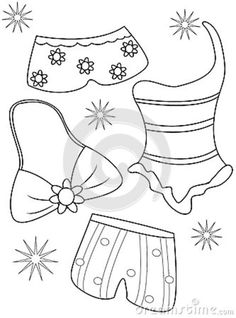 Photo About Swimsuits Coloring Page Useful As Book For Kids