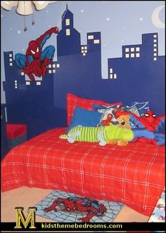 1000 images about superheroes on pinterest spiderman for Comic book bedroom ideas