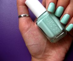 I just bought this color! Nothing to wear it with, but I dont care. I'm in love. Essie - Turqs and Caicos
