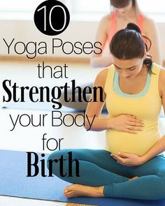 Yoga has been shown to provide many benefits to a woman during her pregnancy. One benefit is many yoga poses actually strengthen your body for birth! | HealthFaithStrength.com