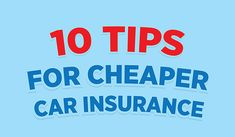 10 Tips for Cheaper Car #Insurance  https://www.redinfographics.com/10-tips-cheaper-car-insurance/  #Money #Finance #Infographic