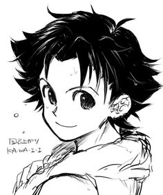 Gon ~ Omg someone drew him with his hair down! Aw thihs is so great!