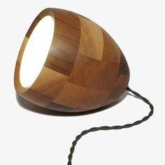 20cm Walnussholz Lampe von Obe & Co Design | MONOQI: