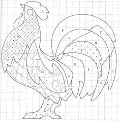 image radical rooster quilt pattern - Google Search