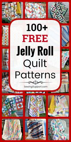 Jelly Roll Quilt Patterns Free Quilt Patterns for Jelly Roll Quilts. Free Jelly Roll quilt patterns, sewing tutorials, aFree Jelly Roll Quilt Patterns Free Quilt Patterns for Jelly Roll Quilts. Free Jelly Roll quilt patterns, sewing tutorials, a Strip Quilt Patterns, Jelly Roll Quilt Patterns, Beginner Quilt Patterns, Strip Quilts, Quilting For Beginners, Sewing Projects For Beginners, Quilt Tutorials, Sewing Tutorials, Quilting Ideas