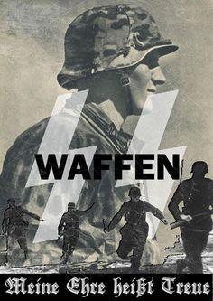 Waffen SS propaganda poster.