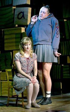 Bertie Carvel and Lauren Ward in Matilda the Musical Broadway