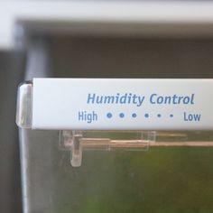 How to use your humidity drawers.