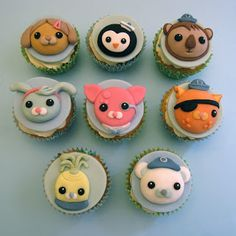 Octonauts cupcakes  Cakes By Jacques - Beautiful Bespoke Cakes, Biscuits and Cupcakes: Octonatus Birthday Party!
