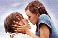 The Notebook--Seems to be a lot of hot kissing in the rain