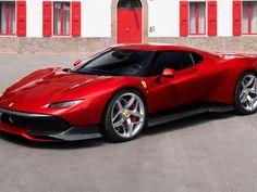 Red, Ferrari SP38, 2018 wallpaper