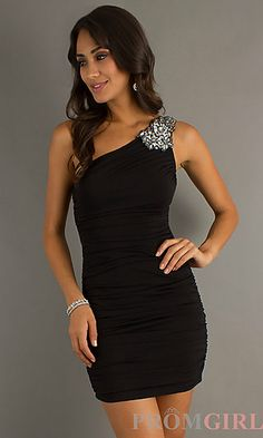 Strapless Short Dress for Party or Prom at PromGirl.com