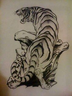 Bold Tiger Tattoo. Love.