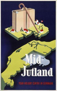 Mid-Jutland - Denmark-Plakat