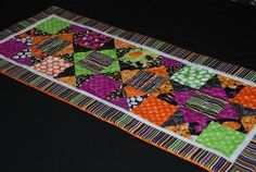 Trick or Treat Table Runner | Free Quilt Tutorial | FaveQuilts.com