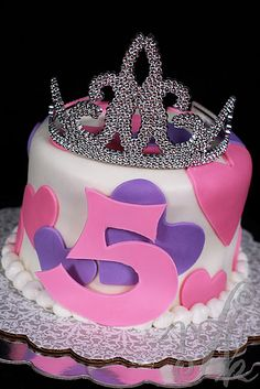 Princess Birthday Cake and the tiara Leilah could wear.