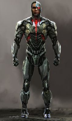 Heres some Cyborg concept art I did for Justice League done for costume designer Micheal Wilkinson. This show really challenged the way that I work and approach concept art. Justice League Cast, Justice League Animated, Justice League Characters, Justice League Comics, Cyborg Dc Comics, Dc Comics Superheroes, Dc Comics Characters, Dc Comics Art, Teen Titans